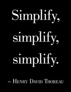 Simplify Henry David Thoreau