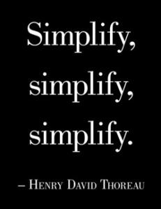 Simplify Henry David Thoreau