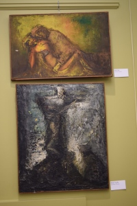 Joachim Probst's works (Top: Pieta Gold, Bottom: Black Crucifix.)